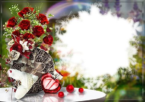 2052057 - طرح لایه باز قاب عکس و فریم برای فتوشاپ با موضوع عشق پایدار